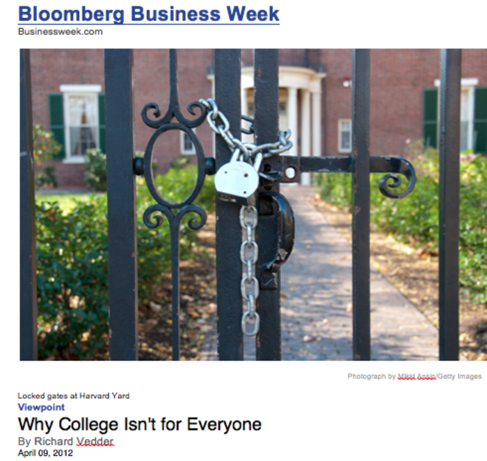 why college isn t for everyone bloomberg business week mikki