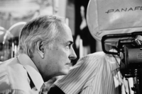 James Ivory at camera filming The Bostonians