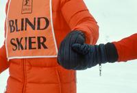 Blind skier Stowe VT