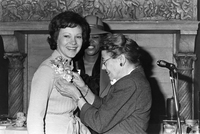 Rosalyn Carter during Carter campaign for President Philadelphia PA