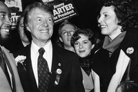 Candidate Governor Jimmy Carter campaigning Boston MA