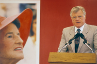 Senator Edward Kennedy celebrates Rose Fitzgerald Kennedy039s 100th birthday celebration Hyannisport MA