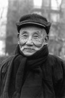 Old man along the Bund Shanghai China